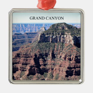 Grand Canyon; Stunning View Square Metal Christmas Ornament