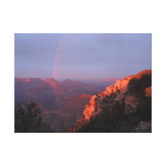 Grand Canyon Sunset Rainbow Wrapped Canvas Canvas Print