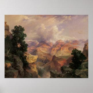 Grand Canyon, Thomas Moran, Vintage Landscape View Poster