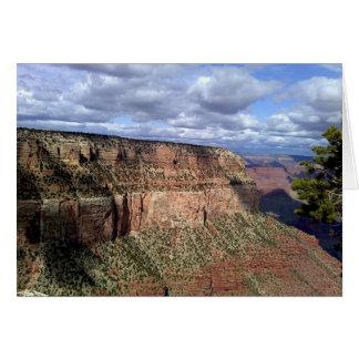 Grand Canyon Under Rain Clouds Card