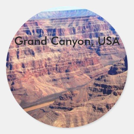 Canapé En Soldes Chez Fly : Grand Canyon, USA Classic Round Sticker  Zazzle