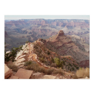 Grand Canyon view from South Kaibab Trail Poster
