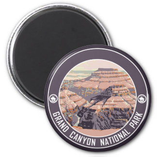 Grand Canyon Vintage Poster Design Magnet