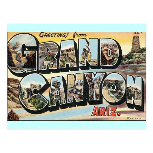 Grand Canyon Vintage Travel Postcard