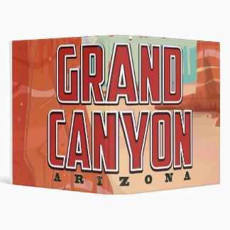 Grand Canyon vintage travel poster 3 Ring Binder