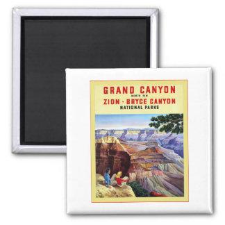 Grand Canyon  ~ Vintage Travel Poster Magnet