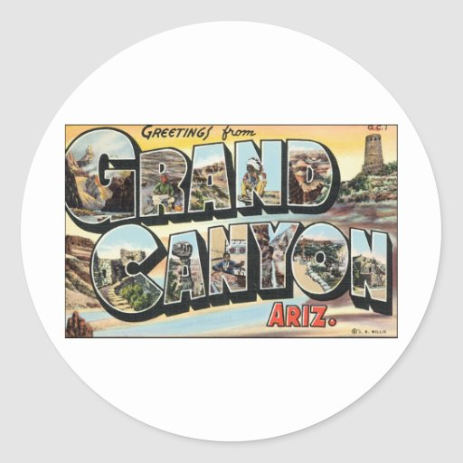Grand Canyon Vintage Travel Sticker