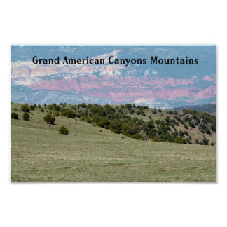 Grand+Canyon Water+Falls American Wild Landscape Poster