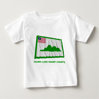 Grand Cape Mount County Waving Flag with Name T Shirt