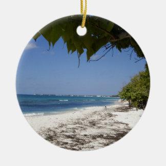 Grand Cayman Beach Ceramic Ornament
