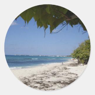 Grand Cayman Beach Classic Round Sticker
