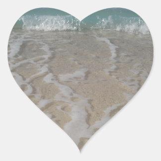 Grand Cayman Beach Heart Sticker