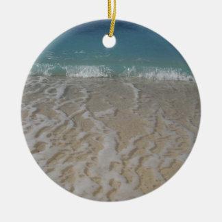 Grand Cayman Beach Double-Sided Ceramic Round Christmas Ornament