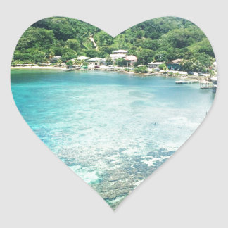Grand Cayman Coral Reef Heart Sticker