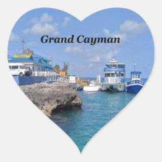 Grand Cayman Heart Sticker