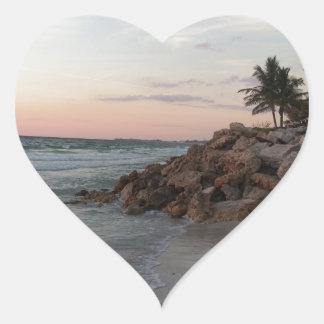 Grand Cayman Island Art Gifts Heart Sticker