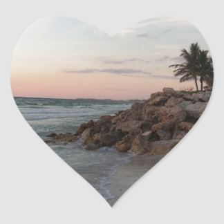 Grand Cayman Island Art Gifts Heart Stickers