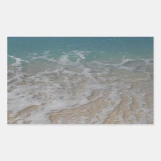 Grand Cayman Island Beach Rectangular Sticker