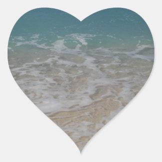Grand Cayman Island Beach Heart Stickers