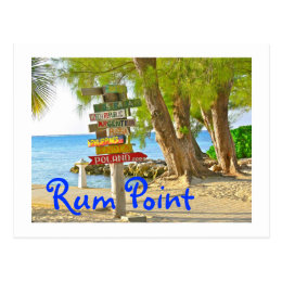 Grand Cayman Island, Rum Point, Postcard
