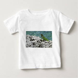 Grand Cayman Islands Green Iguana Baby T-Shirt