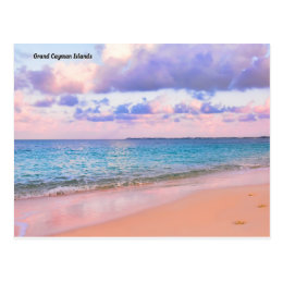 GRand Cayman Islands HDR Beach Postcard