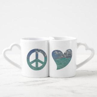 Grand Cayman Peace and Love Mugs