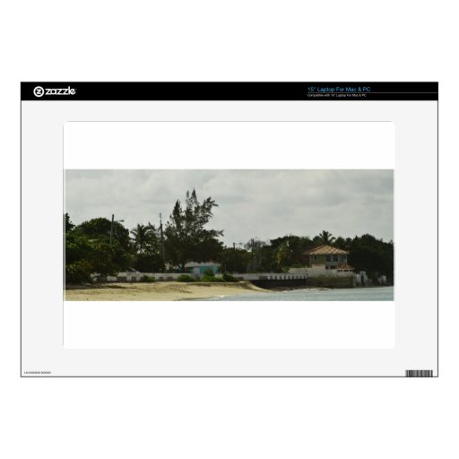 """Grand Cayman Water Front 15"""" Laptop Skin"""