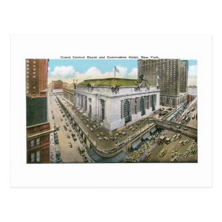 Grand Central Depot and Commodore Hotel, New York Postcard