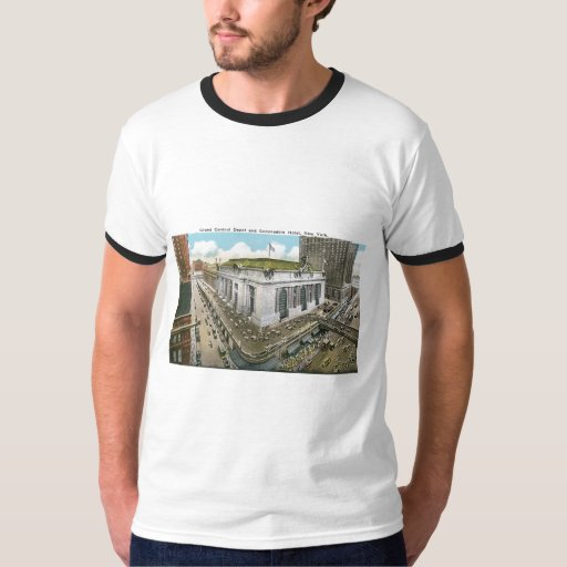 Grand Central Depot and Commodore Hotel, New York Tshirts