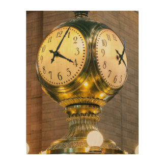 Grand Central Station Clock Wood Wall Art
