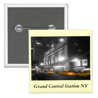 Grand Central Station New York 2 Inch Square Button