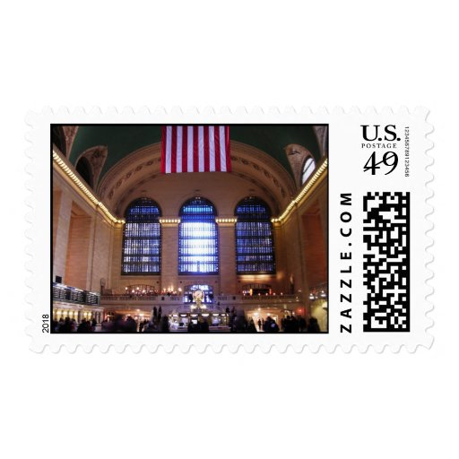 Grand central station new york city ny stamp zazzle for Grand tableau new york