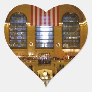 Grand Central Station New York Heart Sticker