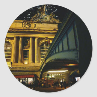 Grand Central Station - Night - New York City Classic Round Sticker