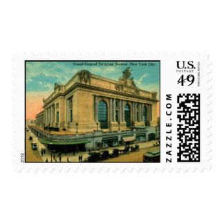 Grand Central Terminal, New York Vintage Postage Stamps