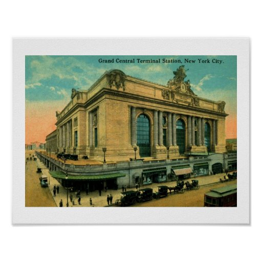 Grand Central Terminal, New York Vintage Poster