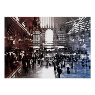 Grand central terminal, NYC, train station Print