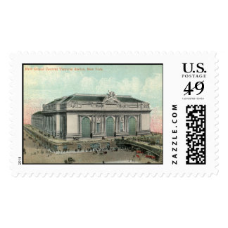 Grand Central Terminal Station, New York City Vint Postage