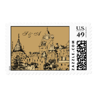 Grand Chateau Postage Stamp