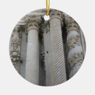 Grand Columns Ceramic Ornament