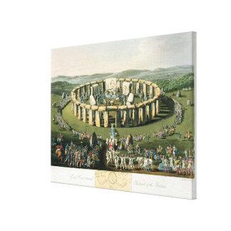 Grand Conventional Festival of the Britons, aquati Canvas Print