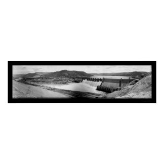 Grand Coulee Dam Photo 1942 Poster