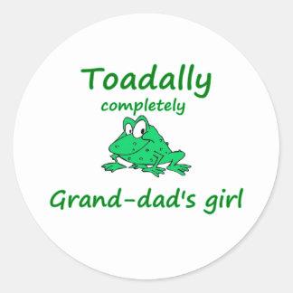 grand-dad's girl classic round sticker