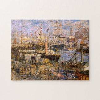 Grand Dock Le Havre Monet Fine Art Jigsaw Puzzle