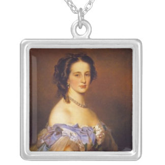 Grand Duchess Alexandra Iosifovna 2 Square Pendant Necklace