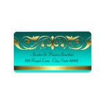 Grand Duchess Aquamarine Gold Address Labels