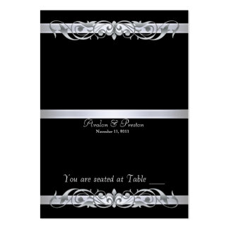 Grand Duchess Black Folding Table Placecard Large Business Cards (Pack Of 100)