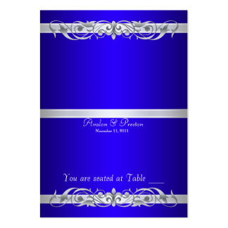 Grand Duchess Blue Folding Table Placecard Large Business Cards (Pack Of 100)