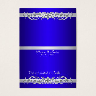 Grand Duchess Blue Folding Table Placecard Business Card